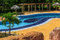 View of  beautiful gorgeous outdoor lazy river tropical pool