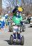 Indiana Pacers Mascot Boomer greeting people at the Annual St Patrick\'s Day Parade