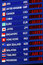 Currency exchange board, foreign money rates display