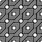 Seamless black and white pattern, simple