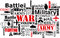 War violence word cloud vector illustration
