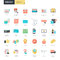 Flat design online shopping and e-commerce icons for graphic and web designers