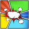 Explosion cloud abstract comic book style frame page template