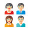 People persons icons in flat style. People icons in flat design. People vector illustration. Human characters signs.