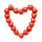 Colorful heart shape candy