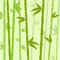 Green Bamboo Tree Leaves Background Flat Vector