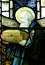 Noah and his ark in stained glass