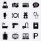 Hotel Services and Facilities Icons. Set 1