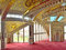 Praying hall in the mosque in the Chechen Republic