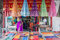 Indian colorful fabric and clothes shop