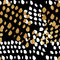 Seamless trendy blog background with handdrawn gold and black in