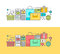 Set of thin line flat design concept on the theme of online shopping