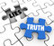 Truth Vs Lies Puzzle Piece Words Compete Honest Facts Whole