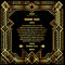Art deco border with gold grid frame on a black background
