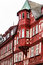 Red and white half-timbered house in Miltenberg, Germany