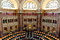 Interior of the Library of Congress in Washington DC, reading room