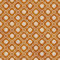 Orange and White Wheel of Dharma Symbol Tile Pattern Repeat Back
