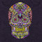 Hand drawn Colorful vector Scull with floral ornament
