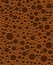 Chocolate bubbles seamless vector texture