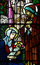 The Nativity in stained glass (birth of Jesus)