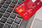 Online Shopping made secure concept on keyboard