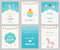 Vector Set of Birthday and Sleepover Kids Party Invitations