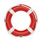 Fesaver, lifebelt, lifebuoy with rope  on white