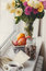 Autumn still-life, nuts, citrus fruits and book