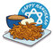 Delicious Latkes with Sour Cream and Apple Sauce, Vector Illustration
