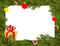 Christmas background. FIR branches and Christmas decorations.