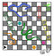 Snakes and ladders family board game with dice, risk etc.