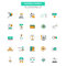 Flat Line Color Icons- Banking and Finance