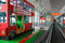 Kids playground-bus in Warsaw Chopin Airport, Poland