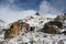 Group of hikers climbing mountain range,Everest Base camp
