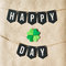 HAPPY ST. PATRICK'S DAY black banner lettering on eco craft paper