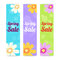 Set of spring season sales vertical banner background
