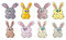 Funny Easter bunny vector symbol , icon  design. Spring illustration isolated on white background.