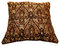 Brown Patterned Decorative Pillow