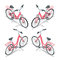 Isometric flat womens bicycle. Stylish womens pink bicycle isolated on white background. Vector bicycle illustration.