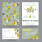 Wedding Invitation Congratulation Card Set. Save the Date