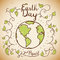 Earth Day Commemorative Design in Doodle Style, Vector Illustration