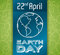 Commemorative Design for Earth Day, Vector Illustration