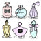 A bottle of perfume for girls, women. Fashion and beauty, trend, aroma.