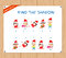 Find the Shadow Educational Activity Task for Preschool Children with christmas kids