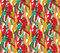 Happy dancing people color seamless pattern.
