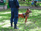 14.05.2016, Moldova, police officer with his dog in a park