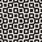 Vector Seamless Black And White Rounded Irregular Maze Lines Pattern