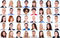 Diversity concept - collage with many business people portraits