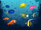 Deep Sea with Tropical Fishes