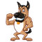 German Shepherd Cartoon Mascot